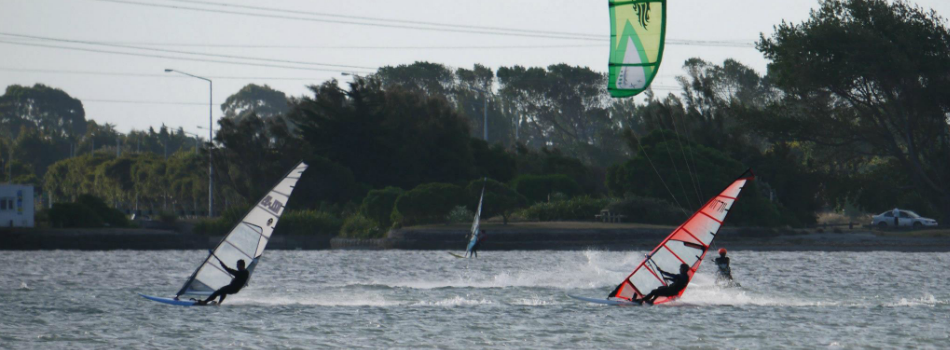 windsurfing on the Estuary