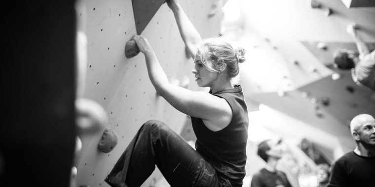 bouldering at Uprise gym chch