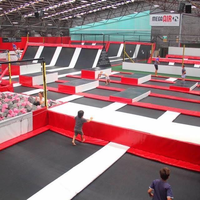 mega air trampolining